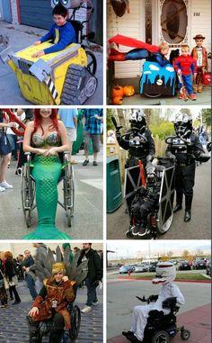 Ne pas faire de son handicap une barrière. Découvrez ces fabuleux déguisement pour personne en fauteuil roulant #wwheelchair
