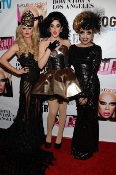 Top 3: Courtney Act, Adore Delano and Bianca Del Rio at the Reunion of Rupaul's Drag Race Season 6