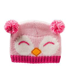 Love this Blossoms & Buds Pink Owl Beanie by Blossoms & Buds on #zulily! #zulilyfinds