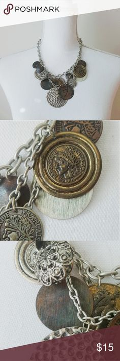 {VINTAGE} Layered Coin Necklace | Mixed Metals •Layered Look •Coin Detail •Adjustable up to 20 inches •Multiple metallic colors Jewelry Necklaces