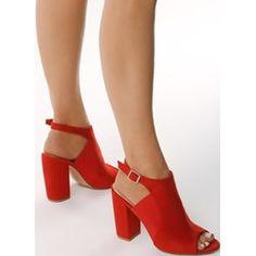 a047fa2539377 Czerwone Sandały Desensitize. Sandały damskie Born2be eleganckie z klamrą  bez wzorów