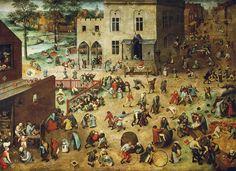 """Kinderspiele"", 1560, by Pieter Bruegel der Ältere (1525/1530-1569)"