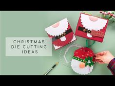 DIE CUT FELT GNOME + SANTA Tonic Studios Designer Choice 10 - YouTube My Memory, Die Cutting, Gnomes, Craft Supplies, The Creator, Santa, Felt, Crafty, Christmas Ornaments