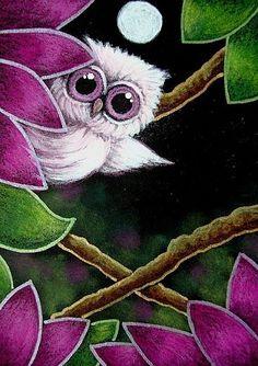 TINY PINK OWL IN MY GARDEN