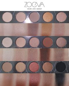Zoeva | Nude Spectrum Eyeshadow Palette Review and Swatches
