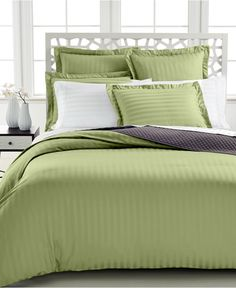 Charter Club Damask Stripe 500 Thread Count Duvet Covers - Duvet Covers - Bed & Bath - Macy's