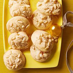 Italian Cornmeal-Apricot Cookies | More Italian desserts: http://www.bhg.com/recipes/desserts/healthy-italian-desserts/#page=4 #myplate