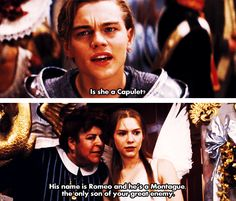 this movie is when i really fell in love with leonardo dicaprio. not titanic. but Romeo + Juliet