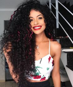 Undercut Curly Hair, Dyed Curly Hair, Dyed Natural Hair, Colored Curly Hair, Dye My Hair, Curly Hair Styles, Natural Hair Styles, Beautiful Hair Color, Cool Hair Color