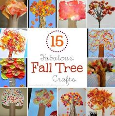 Fall Tree Crafts -  - pinned by @PediaStaff – Please Visit ht.ly/63sNtfor all our ped therapy, school & special ed pins