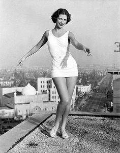 Eleanor Powell dancing on the roof of the Hollywood Roosevelt Hotel