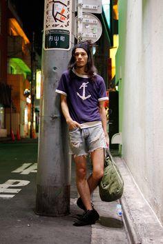 【STREET SNAP】TOMY | Barrack Room | ストリートスナップ | 渋谷(東京) | Street Fashion, Mens Fashion, Man Japan, Tokyo Street Style, Japan Style, Japan Fashion, Shirt Dress, T Shirt, Fashion Photo