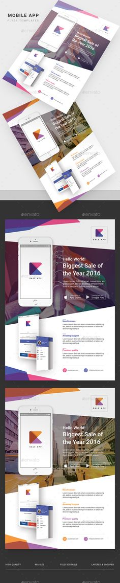 Mobile App Flyer PSD Template • Only available here! → https://graphicriver.net/item/mobile-app-flyer-template/17276685?ref=pxcr