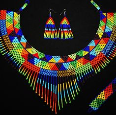 Browse unique items from BiuluArtisanBoutique on Etsy, a global marketplace of handmade, vintage and creative goods. Tribal Jewelry, Beaded Jewelry, Handmade Jewelry, Unique Jewelry, Handmade Gifts, Native American Jewelry, Native American Indians, African Necklace, Bead Loom Patterns