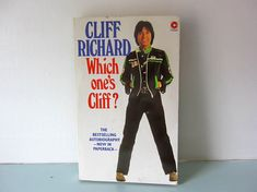 Cliff Richard book, Cliff Richard Autobiography, vintage cliff paperback book, 1980's Cliff Richard book, pop,. Sir Cliff Richard, Black And White Prints, Magpie, Childhood, Love You, Vintage, Books, Etsy, Infancy