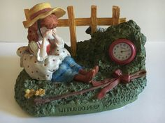 Check out this item in my Etsy shop https://www.etsy.com/listing/476113389/vintage-linden-clock-figurine-little-bo