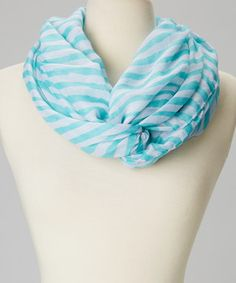 Look what I found on #zulily! Turquoise Stripe Infinity Scarf by fantas-eyes #zulilyfinds