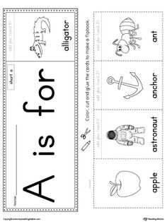 Letter A Beginning Sound Flipbook Printable Worksheet.The Letter A Beginning Sound Flipbook is the perfect tool for learning and practicing to recognize the letter A and it's beginning sound.