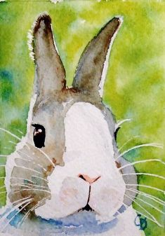 watercolor bunny - would make a cute and quick card (w/embellies of course!) rabbit painting water colors Items similar to Bunz - the cool spring bunny rabbit fine art print on Etsy Bunny Painting, Painting & Drawing, Watercolor Animals, Watercolor Art, Rabbit Art, Bunny Rabbit, Rabbit Drawing, Bunny Art, Guache