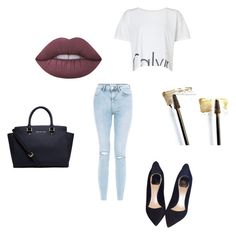 """""""Unbenannt #95"""" by caroline-ludwig37 on Polyvore featuring Mode, Yves Saint Laurent, Calvin Klein, Michael Kors, Lime Crime, Christian Dior und New Look"""