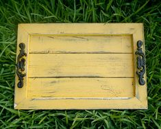 Decorative / Serving Tray  Mustard distressed by EklectikGreen, $36.00