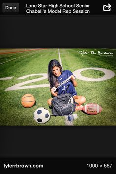Athletic trainer senior pic.... I'm in love with this idea!