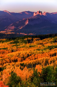 The Castles at sunrise, Crested Butte, Colorado,