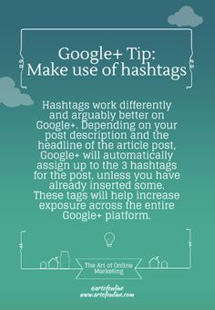 AOM's Google Plus tip: Hashtags are very effective and powerful.