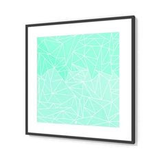 'Becho Rays' Frames by fimbis on miPic  #geometric #gradient #stripes #wallart #mint #mintgreen #green #fashion #style #lifestyle #interiors #interiordesign #homedecor