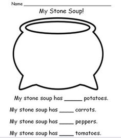 Stone Soup Activities. Great site to find lots of educational downloads for PreK, Kindergarten and 1st grade:) TEACHER APPRECIATION SALE MAY 5-6  SAVE UP TO 28%