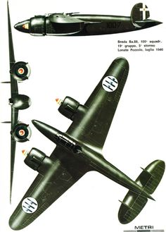 Breda Ba.88 - 100a Squadriglia, Regia Areonautica 1940