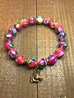 Unicorn Bracelet womens bracelet beaded bracelet stretch