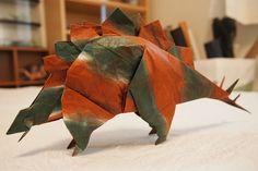 Stegosaurus | ステゴサウルス (空想おりがみより) Designed by Fumiaki Kawahat… | Flickr