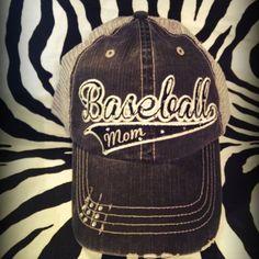 """Baseball Mom!  """"Like""""Blingy Blonde Designs on Etsy & Facebook!"""