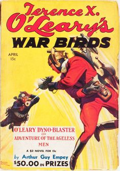 OLearys War Birds - April 1935  #pulp #fiction #cover #art