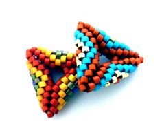 Beading pattern/ beading tutorial for seed beadweaving- 3D Geometric Beaded Triangles