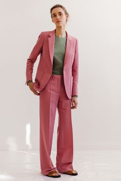 Look 14 Pink suit. #Ports1961 #SS16 #S/S | @andwhatelse