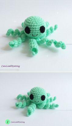 Crochet Octopus pattern by Cutelambknitting on Etsy