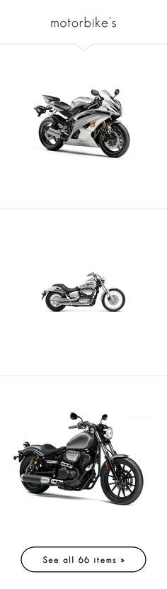 """motorbike's"" by katherina-galina ❤ liked on Polyvore featuring vehicles, bikes, transportation, cars, motorcycle, moto, motorbike, other, vehicle and accessories"