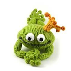 Frog Prince amigurumi crochet pattern by The Flying Dutchman Crochet Design