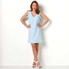 Robe trapèze femme 3 SUISSES COLLECTION - Bleu clair- Vue 1