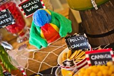 Polly's crackers!  Pirate Themed 5th Birthday Party - Kara's Party Ideas - The Place for All Things Party