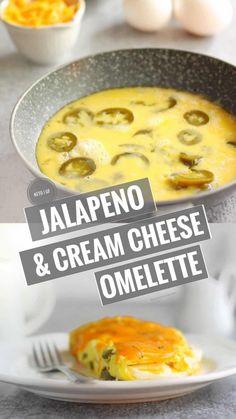 This Low Carb & KetoJalapeño Cream Cheese Omelette takes 5 Ingredients to Make and Tastes like aCreamy Jalapeño Popper