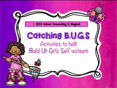 This activity packet is the perfect resource for helping young girls (2-6th) grade build self-esteem. Girls will love C.A.T.C.Hing self esteem by learning the importance of 1) complimenting themselves, 2) appreciating their uniqueness, 3) talking back to negative thoughts, 4) catching themselves doing something good, and 5) honoring their body and the wonderful things it can do.