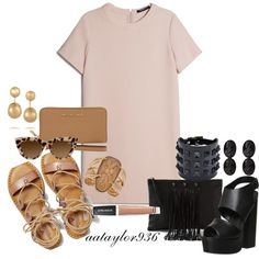 Shape Shifter by aataylor936 on Polyvore featuring polyvore, fashion, style, MANGO, American Eagle Outfitters, Office, J Dauphin, Valentino, Blu Bijoux, Camille K, Kenneth Jay Lane, Sunday Riley, DayToNight and Summer
