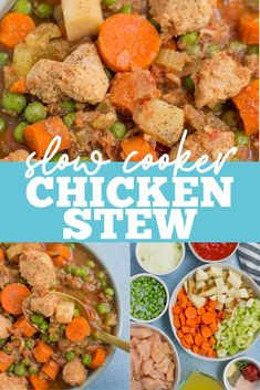 This Slow Cooker Chicken Stew is a healthy, easy dinner you can prep in less than 10 minutes! Paleo, Whole30 friendly and loaded protein/vegetables, this is the best recipe for a cold winter night! #slowcooker #crockpot #chickenstew #whole30 #paleo Healthy Gluten Free Recipes, Healthy Crockpot Recipes, Lunch Recipes, Healthy Dinner Recipes, Whole30 Recipes, Slow Cooker Recipe Book, Slow Cooker Chicken Stew, Stew Chicken Recipe, Healthy Slow Cooker