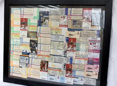 We love this idea, use all your ticket stubs from holidays and concerts to make some DIY Artwork!