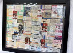 Ticket Stub Wall art