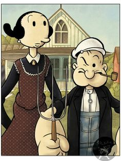 American Gothic Olive-Oil & Popeye