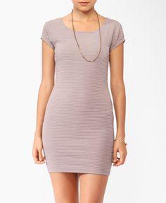 Matelassé Cap Sleeve Dress (Taupe). Forever 21. $10.50